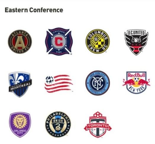 Die 11 Teams der Eastern Conference.