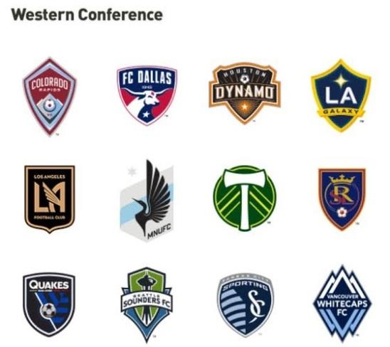 Die Western Conference und ihre 12 Teams.